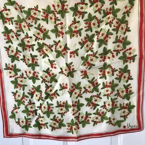 Vintage Vera strawberry square scarf